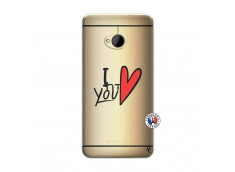 Coque HTC ONE M7 I Love You
