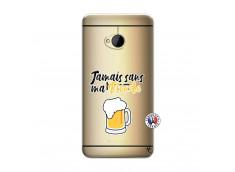 Coque HTC ONE M7 Jamais Sans Ma Blonde
