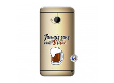 Coque HTC ONE M7 Jamais Sans Ma Brune