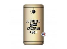 Coque HTC ONE M7 Je Dribble Comme Cristiano