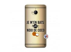 Coque HTC ONE M7 Je m'en bats Les Noix De Coco