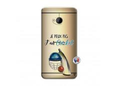 Coque HTC ONE M7 Je peux pas j'ai cricket