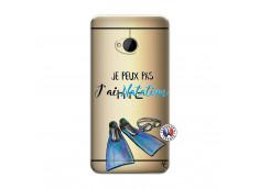 Coque HTC ONE M7 Je Peux Pas J Ai Natation