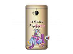 Coque HTC ONE M7 Je Peux Pas J Ai Shopping