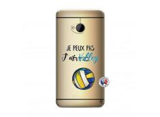Coque HTC ONE M7 Je Peux Pas J Ai Volley