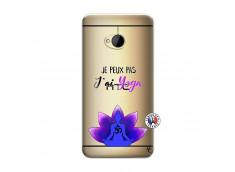 Coque HTC ONE M7 Je Peux Pas J Ai Yoga