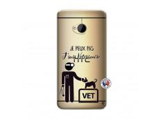 Coque HTC ONE M7 Je Peux Pas Je Suis Veterinaire