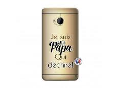 Coque HTC ONE M7 Je Suis Un Papa Qui Dechire