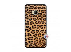 Coque HTC ONE M7 Leopard Style Noir