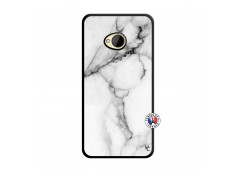 Coque HTC ONE M7 White Marble Noir