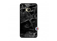 Coque HTC ONE M7 Black Marble Noir