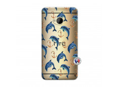Coque HTC ONE M7 Dauphins