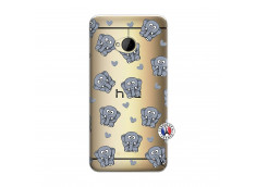 Coque HTC ONE M7 Petits Elephants