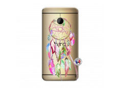Coque HTC ONE M7 Pink Painted Dreamcatcher