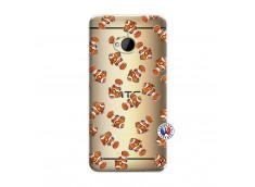 Coque HTC ONE M7 Petits Poissons Clown