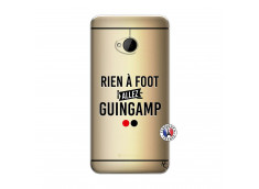 Coque HTC ONE M7 Rien A Foot Allez Guingamp
