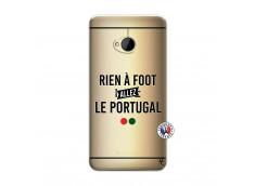 Coque HTC ONE M7 Rien A Foot Allez Le Portugal