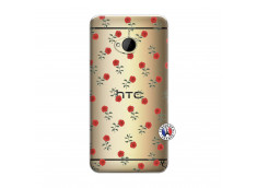 Coque HTC ONE M7 Rose Pattern