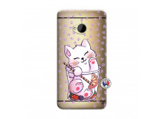 Coque HTC ONE M7 Smoothie Cat