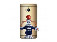 Coque HTC ONE M7 Super Maman Et Super Bébé
