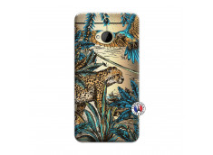 Coque HTC ONE M7 Leopard Jungle