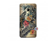 Coque HTC ONE M7 Leopard Tree
