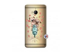 Coque HTC ONE M7 Puppies Love
