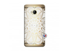 Coque HTC ONE M7 White Mandala