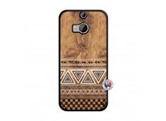 Coque HTC ONE M8 Aztec Deco Noir