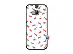 Coque HTC ONE M8 Cartoon Heart Noir