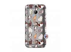 Coque HTC ONE M8 Cat Pattern