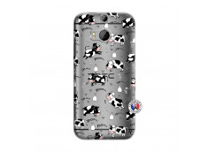 Coque HTC ONE M8 Cow Pattern
