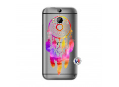 Coque HTC ONE M8 Dreamcatcher Rainbow Feathers