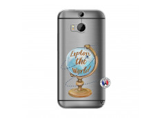 Coque HTC ONE M8 Globe Trotter