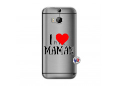 Coque HTC ONE M8 I Love Maman