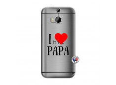 Coque HTC ONE M8 I Love Papa