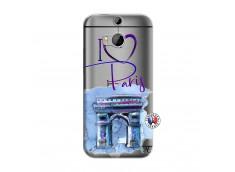 Coque HTC ONE M8 I Love Paris, i love Arc de Triomphe