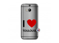 Coque HTC ONE M8 I Love Toulouse