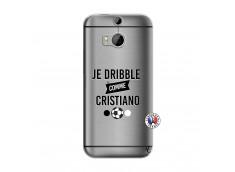 Coque HTC ONE M8 Je Dribble Comme Cristiano