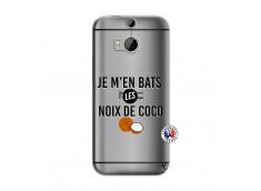 Coque HTC ONE M8 Je m'en bats Les Noix De Coco
