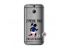 Coque HTC ONE M8 Je Peux Pas J Ai Les Bleues Maillot