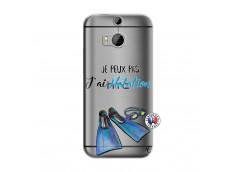 Coque HTC ONE M8 Je Peux Pas J Ai Natation