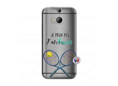 Coque HTC ONE M8 Je Peux Pas J Ai Tennis