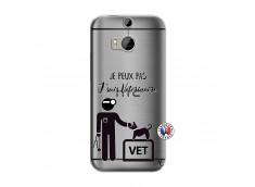 Coque HTC ONE M8 Je Peux Pas Je Suis Veterinaire