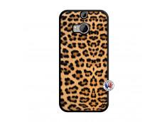 Coque HTC ONE M8 Leopard Style Noir