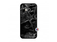 Coque HTC ONE M8 Black Marble Noir
