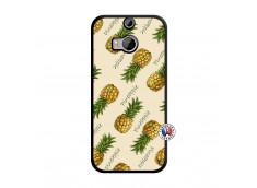 Coque HTC ONE M8 Sorbet Ananas Noir