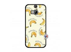 Coque HTC ONE M8 Sorbet Banana Split Noir