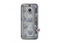 Coque HTC ONE M8 Petits Elephants
