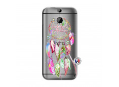 Coque HTC ONE M8 Pink Painted Dreamcatcher